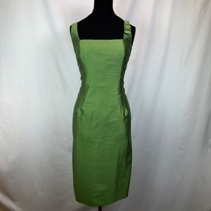 💚 MaxMara 100% Pure Silk Peridot Dress size 10 💚